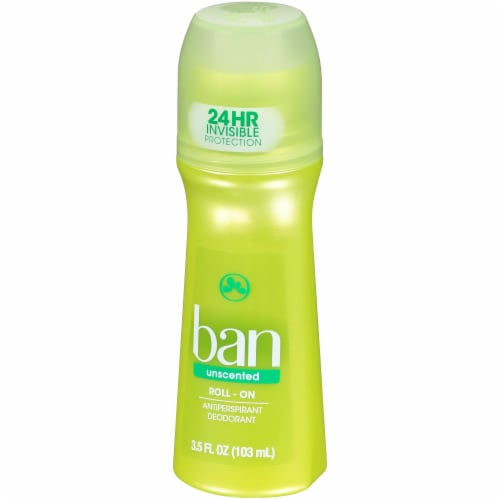 Ban Unscented Roll-On Antiperspirant and Deodorant Perspective: right