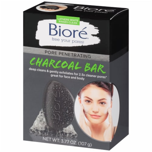 Biore® Pore Penetrating Charcoal Cleansing Bar Perspective: right