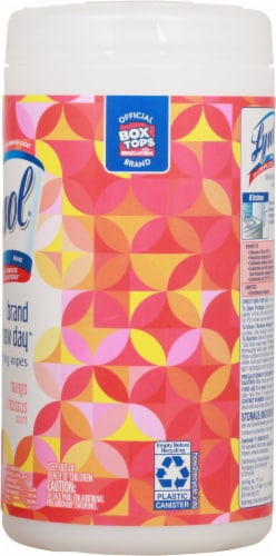 Lysol® Brand New Day™ Mango & Hibiscus Disinfecting Wipes Perspective: right