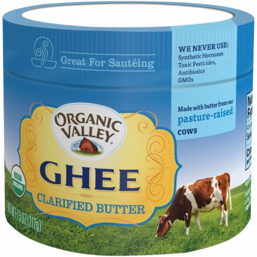 Organic Valley Ghee Clarified Butter Perspective: right