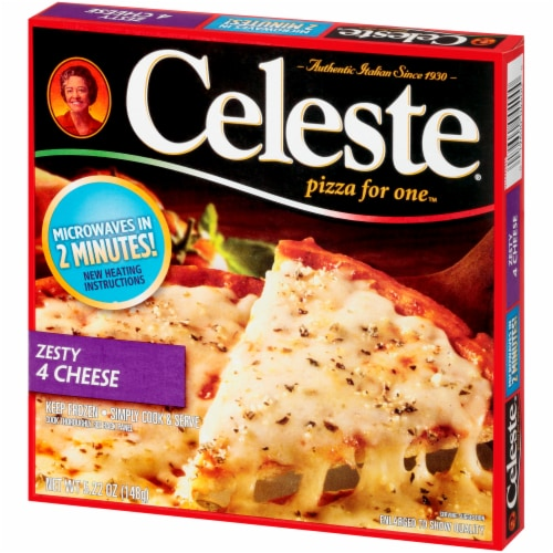 Celeste Zesty 4 Cheese Pizza for One Perspective: right