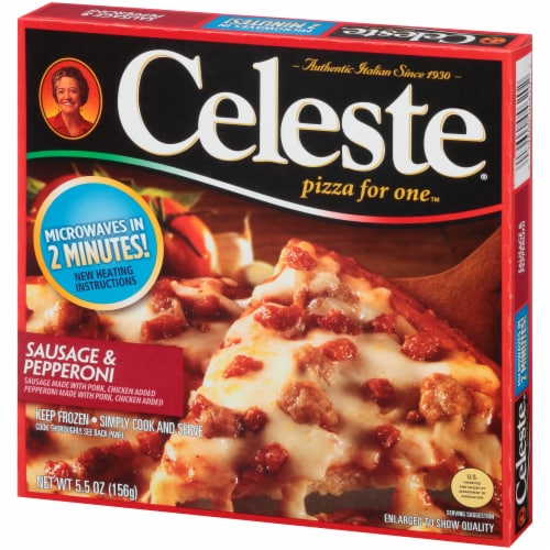 Celeste Sausage & Pepperoni Pizza for One Perspective: right