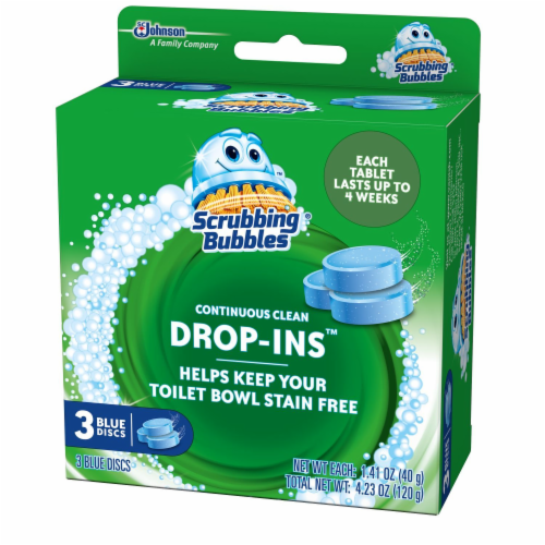 Scrubbing Bubbles Drop-Ins Continuous Clean Blue Discs Perspective: right