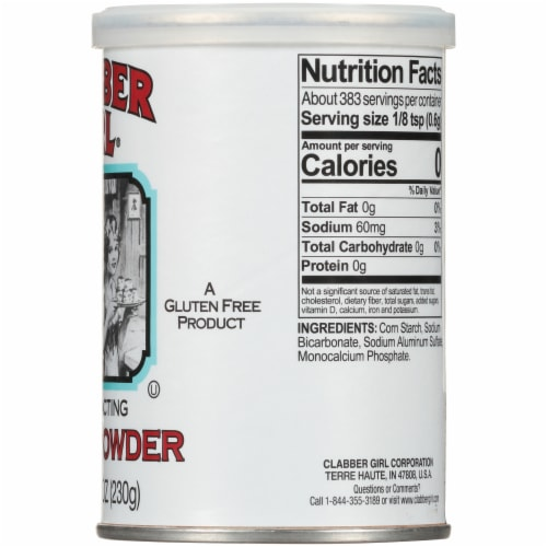 Clabber Girl Double Acting Baking Powder Perspective: right