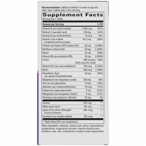 NatureWorks Alpha Betic Multi Vitamin Tablets Perspective: right