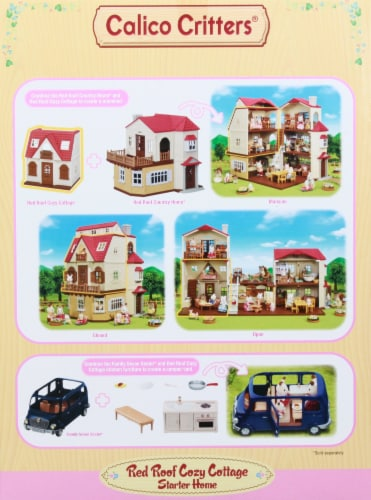 Calico Critters Red Roof Cozy Cottage Doll Set Perspective: right