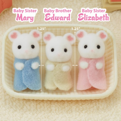 Calico Critters Marshmallow Mouse Triplets Set Perspective: right