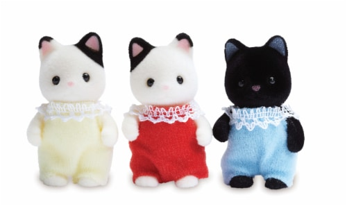 Calico Critters Tuxedo Cat Triplets Set Perspective: right