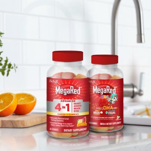 Schiff MegaRed Advanced 4-in-1 Watermelon & Orange Omega-3 Gummies Perspective: right