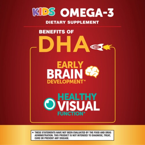 Schiff MegaRed Kids Hello DHA Omega-3 Gummies Perspective: right