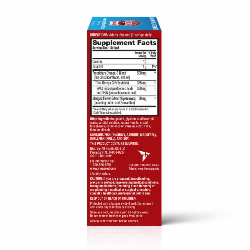 MegaRed Advanced Total Body Refresh Omega-3s Softgels Perspective: right