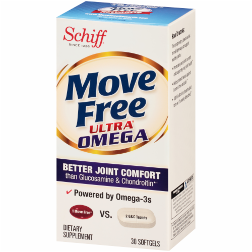 Schiff Move Free Ultra Omega Joint Health Softgels Perspective: right