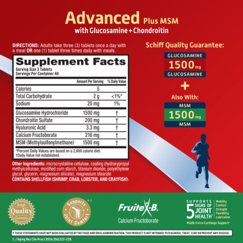 Move Free Advanced Plus MSM Joint Supplement with Extra Cartilage Support Coated Tablets Perspective: right