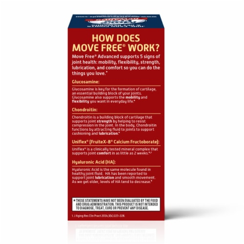 Move Free Advanced Glucosamine Chondroitin Joint Supplement Tablets Perspective: right