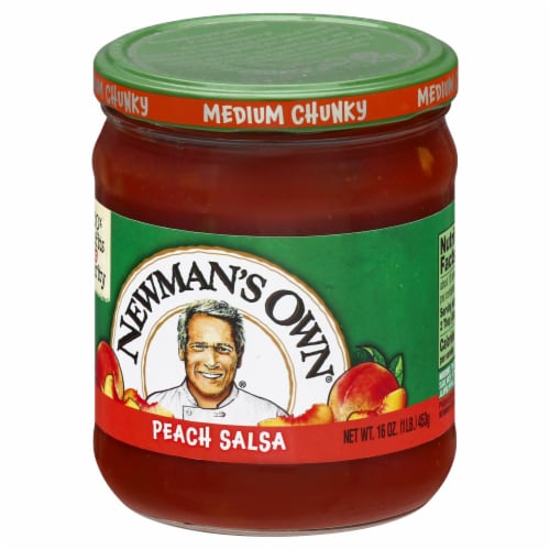 Newman's Own Medium Chunky Peach Salsa Perspective: right