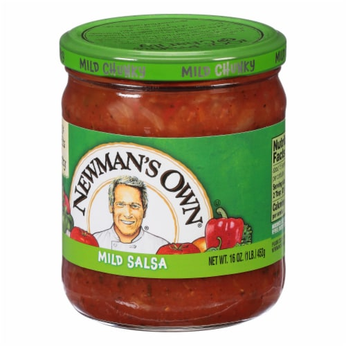 Newman's Own Mild Chunky Salsa Perspective: right