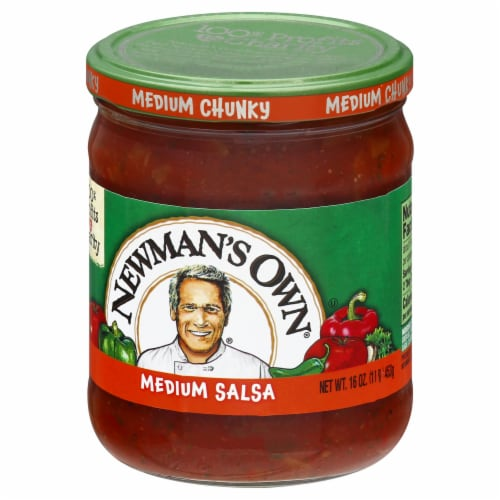 Newman's Own Medium Chunky Salsa Perspective: right