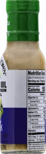 Newman's Own Dairy-Free Avocado Oil & Extra Virgin Olive Oil Greek Dressing Perspective: right