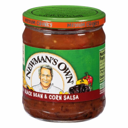 Newman's Own Black Bean & Corn Salsa Perspective: right