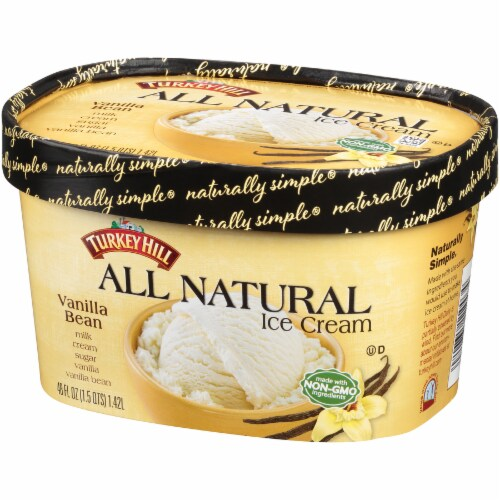 Turkey Hill All Natural Vanilla Bean Ice Cream Perspective: right