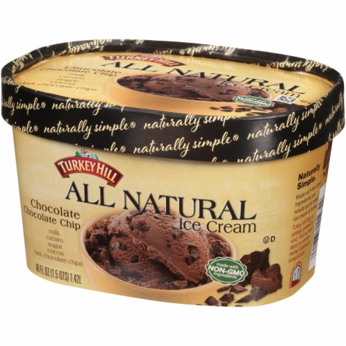 Turkey Hill® Chocolate Chocolate Chip Ice Cream Perspective: right