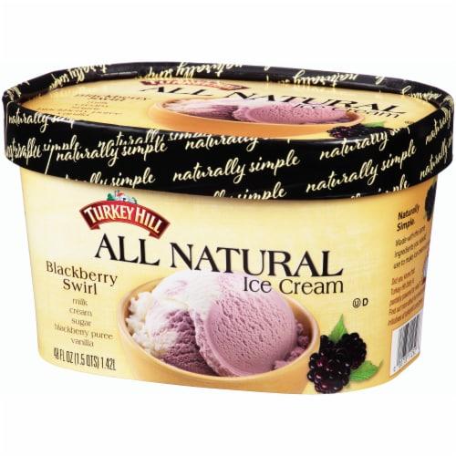 Turkey Hill All Natural Blackberry Swirl Ice Cream Perspective: right