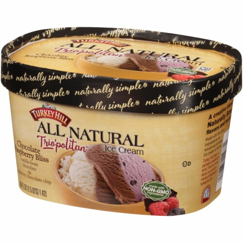 Turkey Hill® Trio'politan All Natural Chocolate Raspberry Bliss Ice Cream Perspective: right