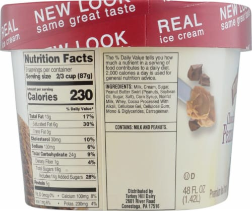 Turkey Hill® Chocolate Peanut Butter Cup Ice Cream Perspective: right