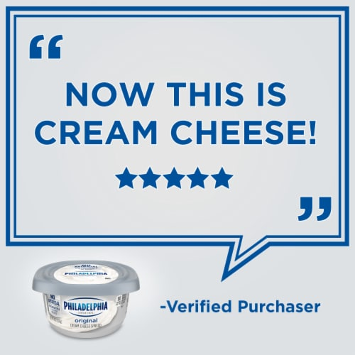Philadelphia Original Cream Cheese Spread Tub Perspective: right
