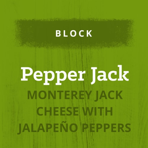 Kraft Pepper Jack Cheese Block Perspective: right