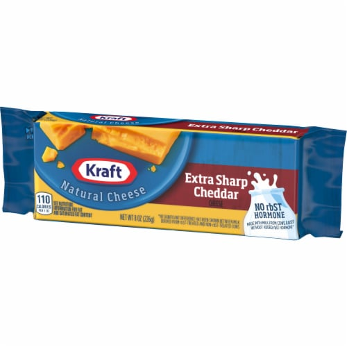 Kraft Extra Sharp Cheddar Cheese Block Perspective: right