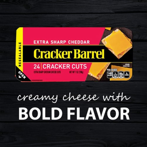 Cracker Barrel Cracker Cuts Extra Sharp Cheddar Cheese Perspective: right