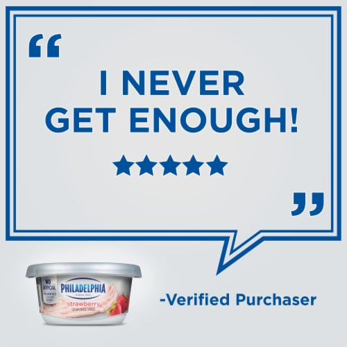 Philadelphia Strawberry Cream Cheese Spread Perspective: right