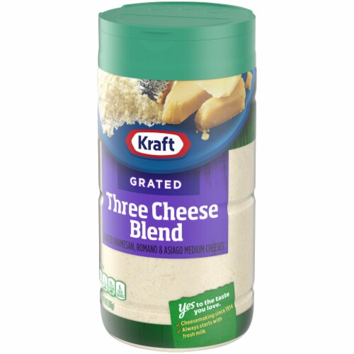 Kraft Grated Three Cheese Blend Perspective: right