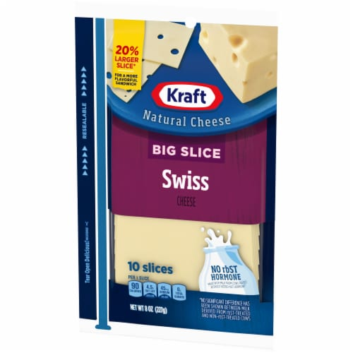 Kraft Big Slice Swiss Cheese Slices Perspective: right