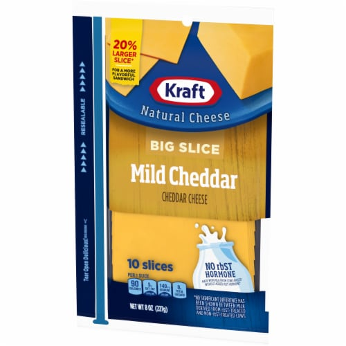 Kraft Big Slice Mild Cheddar Cheese Slices Perspective: right