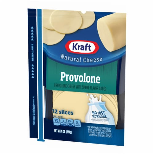 Kraft Provolone Cheese Sliced Cheese Perspective: right