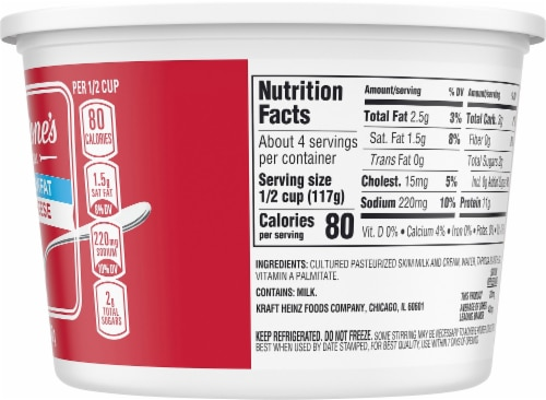 Breakstone's Small Curd Low Sodium Cottage Cheese Perspective: right