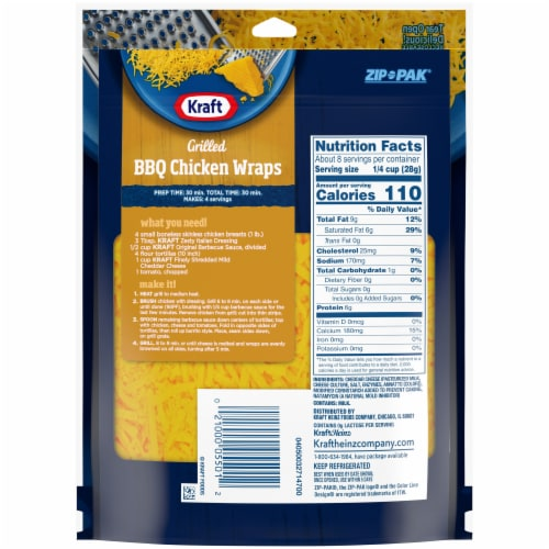Kraft Mild Cheddar Finely Shredded Natural Cheese Perspective: right
