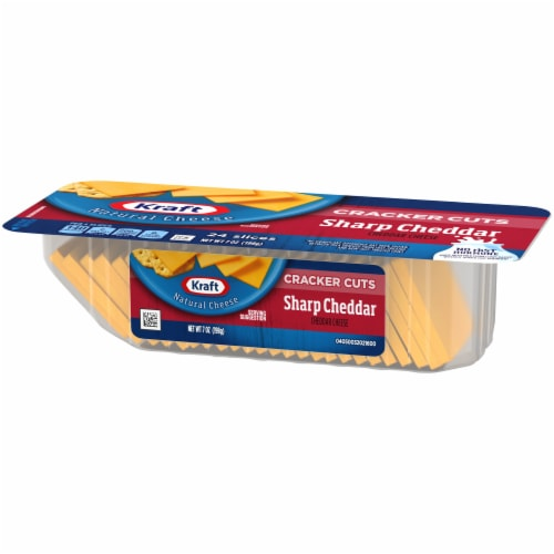 Kraft Sharp Cheddar Cheese Cracker Cuts Perspective: right