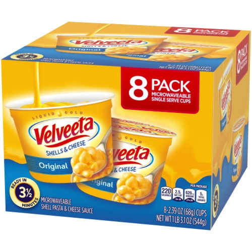 Velveeta Original Flavor Shells & Cheese Cups Perspective: right