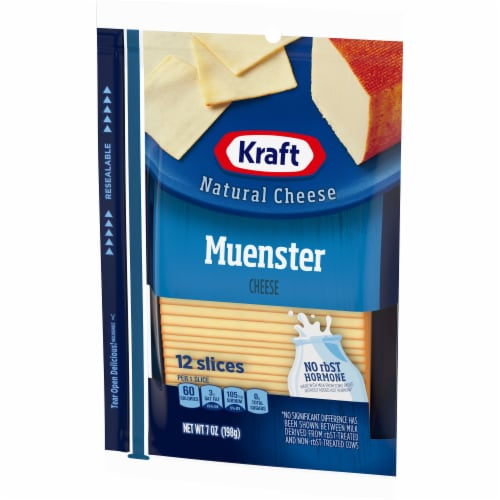 Kraft Muenster Natural Cheese Slices Perspective: right