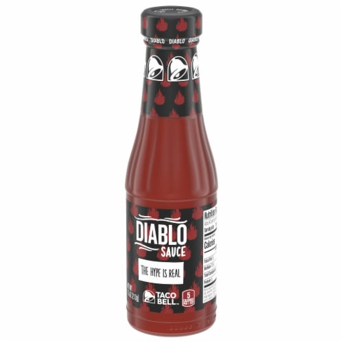 Taco Bell Diablo Sauce Perspective: right