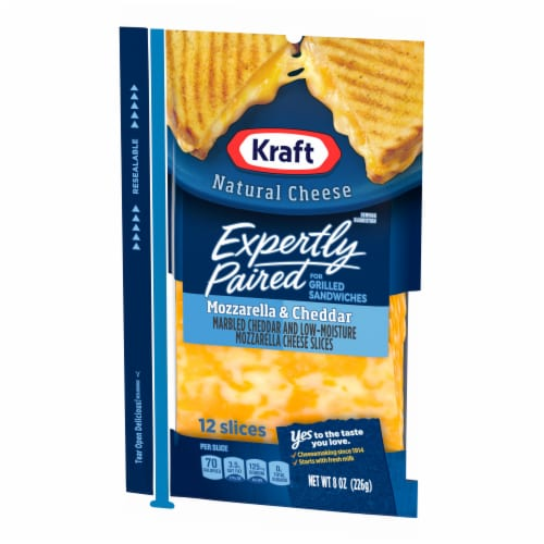 Kraft Expertly Paired Mozzarella & Cheddar Cheese Slices Perspective: right
