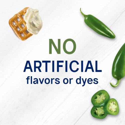 Philadelphia Pretzels and Jalapeno Cream Cheese Dip Perspective: right