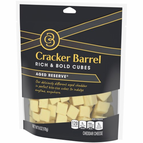 Cracker Barrel Rich & Bold Aged Reserve Cheese Cubes Perspective: right