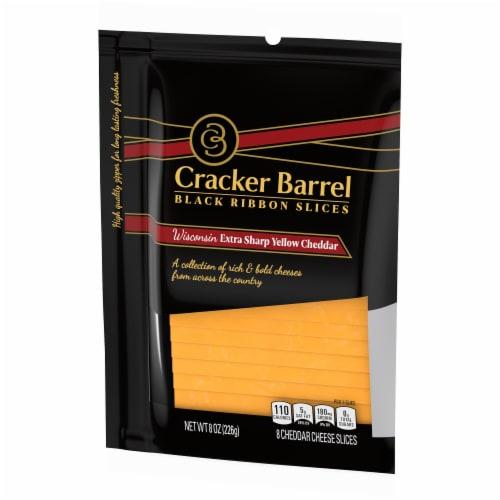 Cracker Barrel Wisconsin Extra Sharp Yellow Cheedar Perspective: right