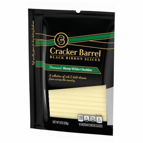 Cracker Barrel Vermont Sharp White Cheddar Sliced Cheese Perspective: right