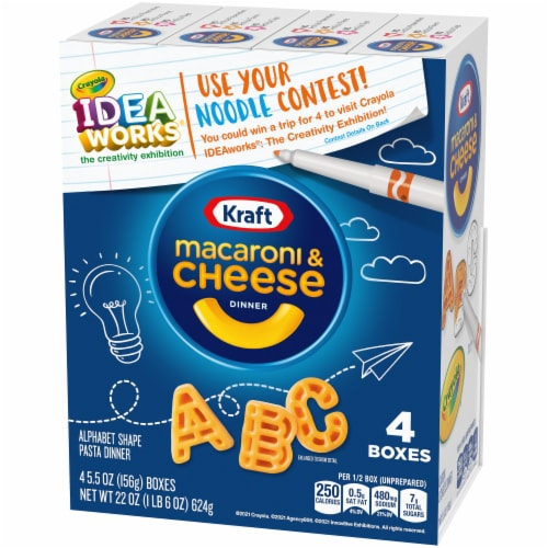 Kraft Crayola ABC Macaroni and Cheese Dinners Perspective: right