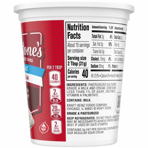 Breakstone's Reduced Fat Sour Cream Perspective: right